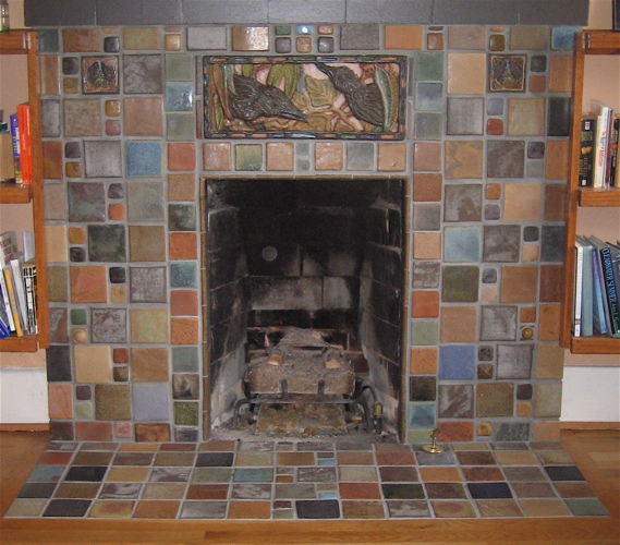 crow fireplace